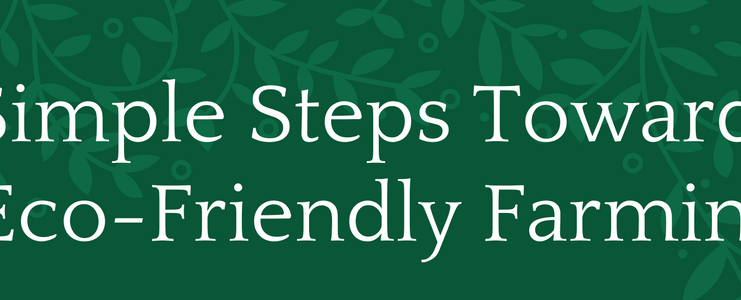 Simple Steps Towards Eco-Friendly Farming