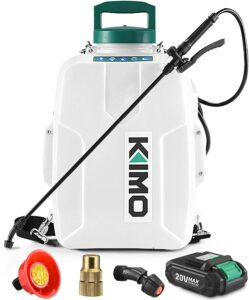 KIMO Battery Powered 3 Gallon Backpack Sprayer