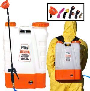 PetraTools 4 Gallon Battery Powered Backpack Sprayer